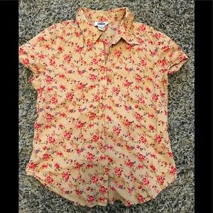 Old Navy button up flowered blouse